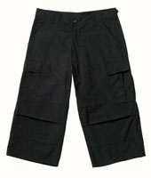 BDU Pants Black BDU Capri Pants 2XL