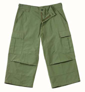 BDU Pants Olive Drab BDU Capri Pants 2XL