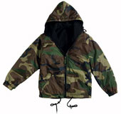 Camouflage Jackets Woodland Camo Reverisble Jacket 2XL