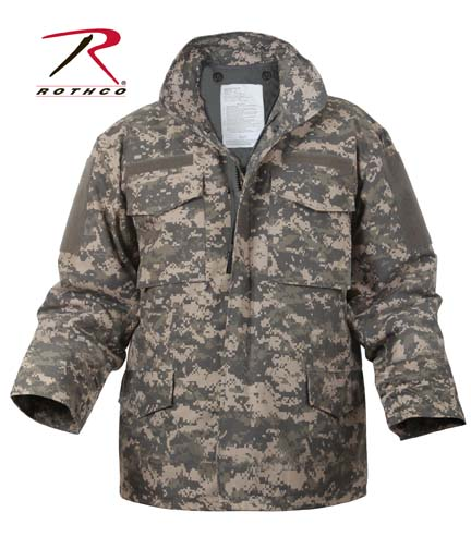 Camouflage Jackets Digital Camo M-65 Field Jacket 2XL