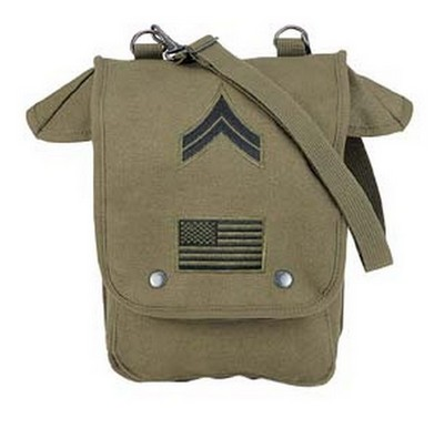 Map Case Shoulder Bag With Military Patches