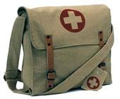 Military Bags Khaki Vintage Medic Bag