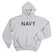 Navy Sweatshirts Grey Navy Logo Hooded Sweatshirt 2XL
