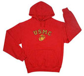 Military Sweatshirts Red USMC Red Hoodies