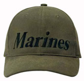 Military Caps Olive Drab Marines Logo Cap