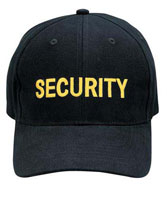 Security Logo Caps Black/Gold Security Cap