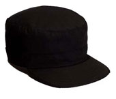 Military Fatigue Caps Black Adjustable Fatigue Cap