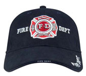 Fire Dept Caps Navy Blue Fire Dept Logo Cap
