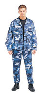 Military Fatigues (BDUs) Sky Blue Camo Shirts 3XL