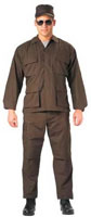 Military Uniform Shirts Brown Swat Cloth BDUs 3XL