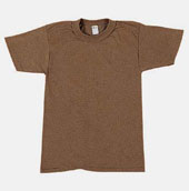 Military T-Shirts - Brown 100% Cotton Shirt