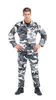 Camouflage Military Fatigues (BDUs) City Camo Pants Longs