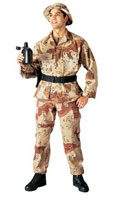 Desert Camo Fatigues Military Uniforms Shirts 2XL