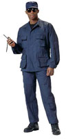 Navy Blue Fatigues Military Battle Dress Uniforms Shirts