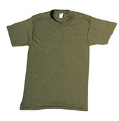 Kids Military T-Shirts - Olive Drab 100% Cotton Shirt