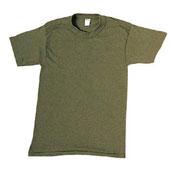 Military T-Shirts - Olive Drab 100% Cotton Shirt