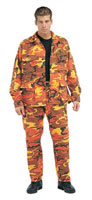 Military Fatigues (BDUs) Savage Orange Camo Pants