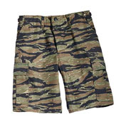 Tiger Stripe Camouflage Shorts Military Cargo Shorts Size 2XL