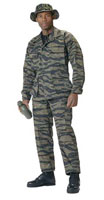 Camouflage Military Fatigues (BDUs) Tiger Stripe Pants