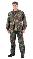 Military Camouflage Fatigues (BDUs) Woodland Camo Shirts