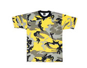 Camouflage T-Shirts - Yellow Camo Shirt