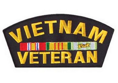 Vietnam Veteran Logo Patch 6 Inch Arched Army Navy Shop