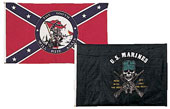 "US Rebel Flags ""The South Will Rise Again"" Banner"