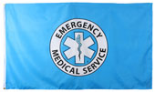 Ems Logo Flag/Banner 3 X 5 Foot