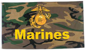 United States Marines Camouflage Flags / Banners