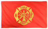 Fire Department Logo Flag 3 X 5 Foot