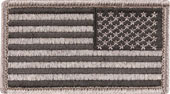 Reverse American Flag Patch In Foliage Tint