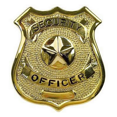 Security Officer Badges Gold Tone Army Navy Shop