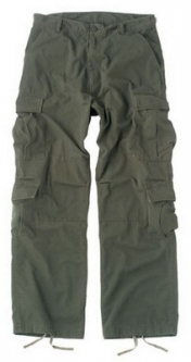 Stone VINTAGE PARATROOPER FATIGUES BDU Military Cargo Pants EMT Paintball Work