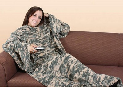 Camo Or Military Cuddle Blanket With Arms Army Navy Shop