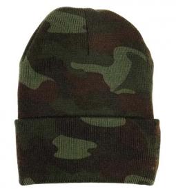 d7d5bce8d0f1c1 Camouflage Watch Caps Deluxe Woodland Camo Cap