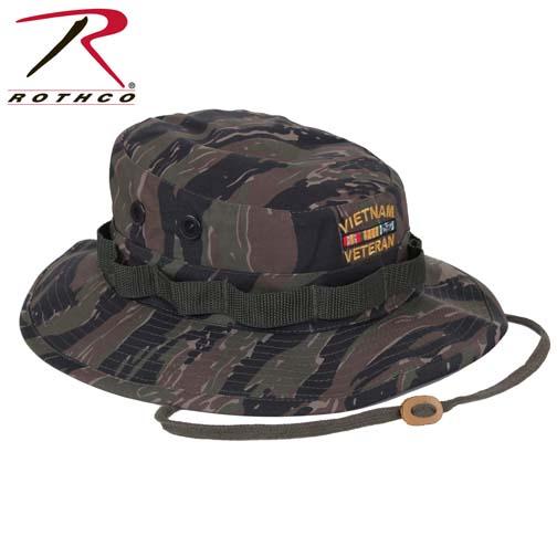 Rothco Vietnam Veteran Boonie Hat Tiger Stripe Army