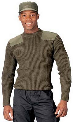 Wool Commando Sweaters - Olive Drab