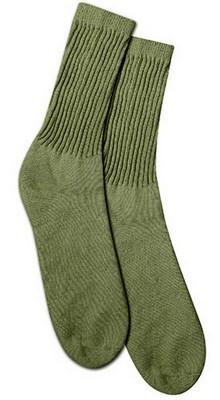 Men S Olive Drab Gi Crew Socks U S Made Army Navy Shop