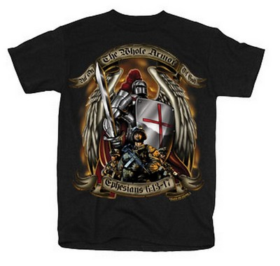 b3ecc0c8a Armor Of God Christian Military Graphic Tee 2XL: Army Navy Shop