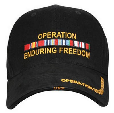 Military Operation Enduring Freedom Logo Hat Army Navy Shop