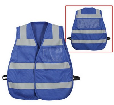 High Visibility Safety Vests Blue Vest