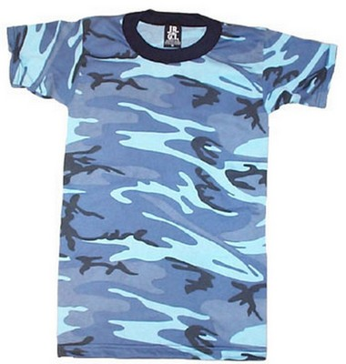 422dd184 Camouflage T-Shirts - Sky Blue Camo Shirt: Army Navy Shop