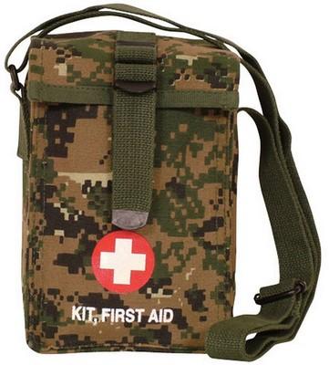 Digital Woodland Camo Military First Aid Kit