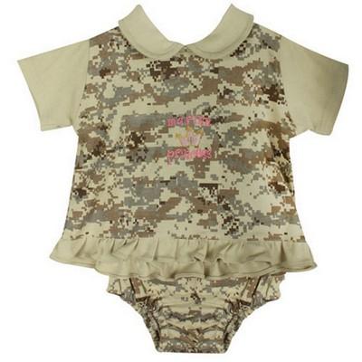 Baby Girl Marine Princess Digital Desert Camo Dress Set