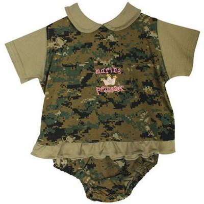 Baby Girl Camo Clothes Magnificent Baby Girl Marine Princess Digital Woodland Camo Dress Set Army Navy