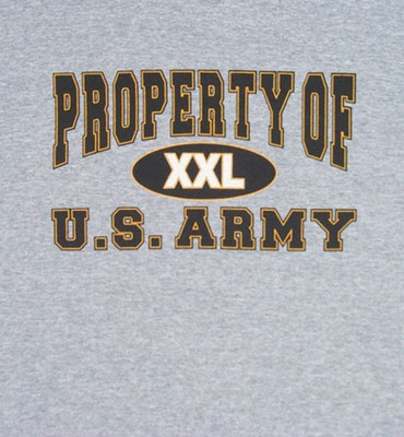 Property Of U S Army Logo T Shirt Army Navy Shop