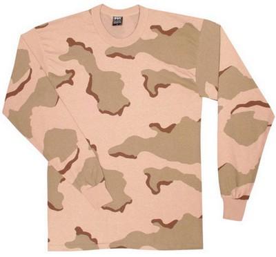 e03396f406 Camo Long Sleeve Shirts Tri-Desert Camo Tee: Army Navy Shop