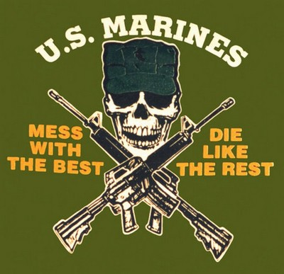 Military Us Marines T Shirts Mess With Best T Army Navy Shop