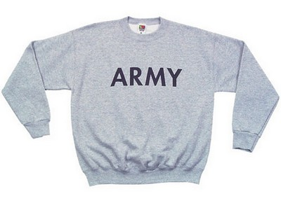 Army Sweatshirts Grey Sweatshirt  Army Navy Shop bd19a8af1