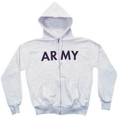 Army Hoodie Zip Front Sweatshirt Grey  Army Navy Shop 3de49d849